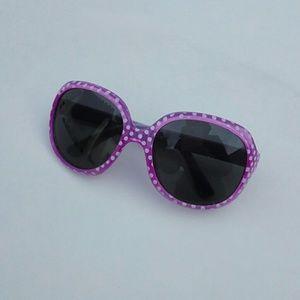 Kids Girls Polka Dot Sunglasses NEW Purple